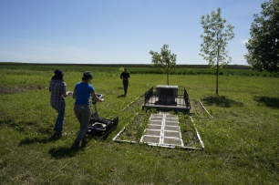 Ground Penetrating Radar Survey at Rohatyn's South Mass Grave Site (Photo credit: Jay Osborn)