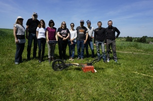Field Survey Team at Rohatyn's South Mass Grave Site (Photo credit: Jay Osborn)